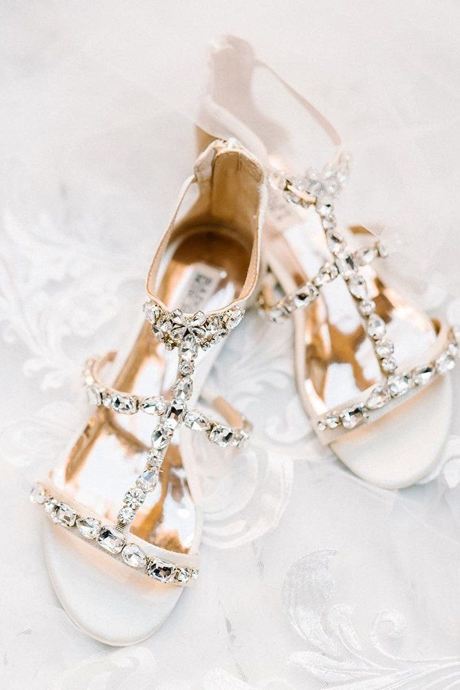 30 Wedding Sandals You'll Want To Wear Again ❤ wedding sandals crystal with stones badgley mishka #weddingforward #wedding #bride
