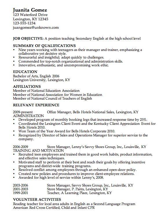Example Of A High School Resume 10 High School Resume Templates - examples of graduate school resumes