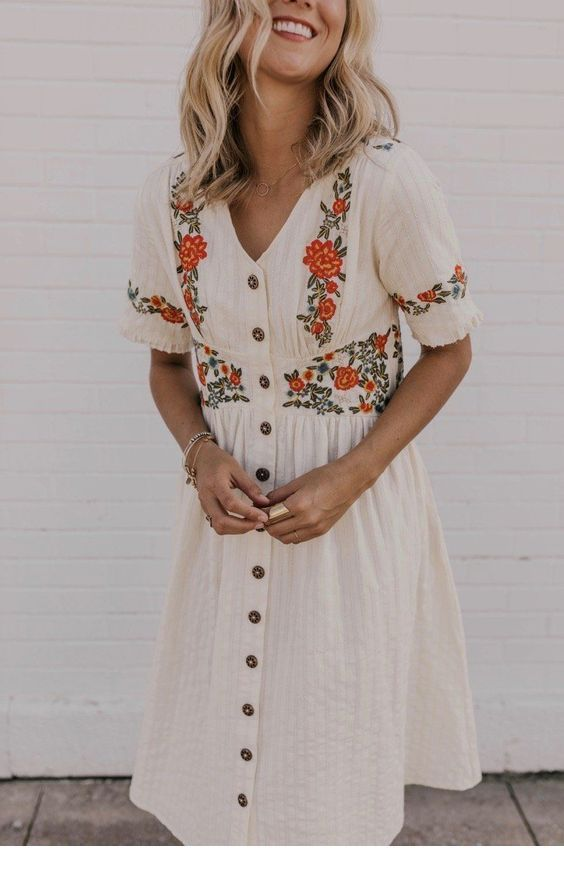 Cute dress with boho print