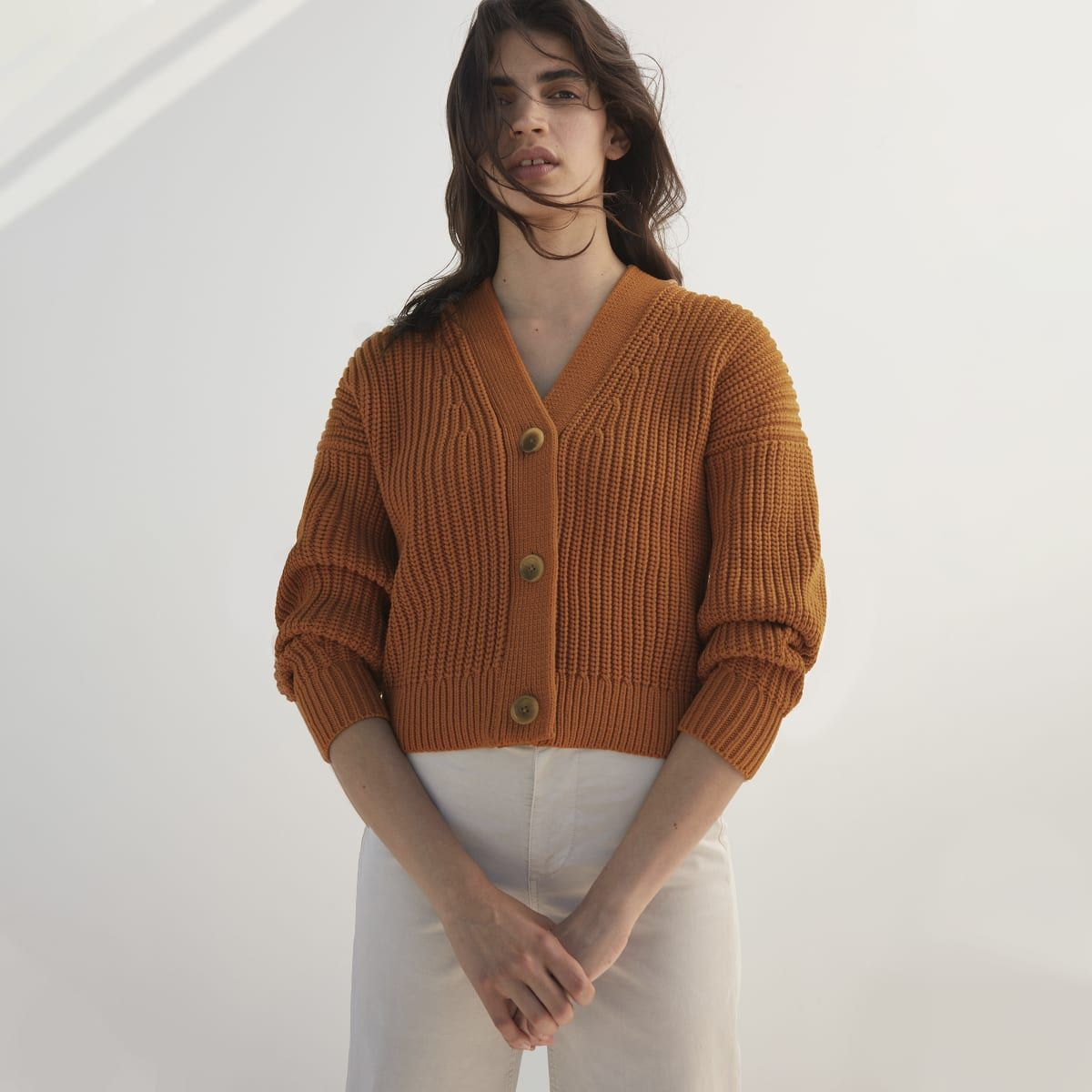 The Texture Cotton Crop Cardigan
