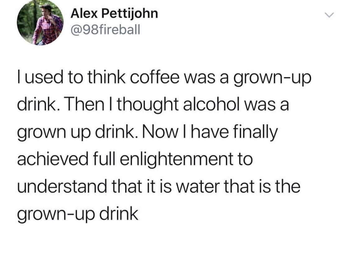 Grown up drinks