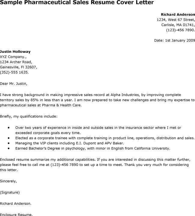 Sample Medical Sales Cover Letter Sales Cover Letter Sample - sample cover letter for sales job