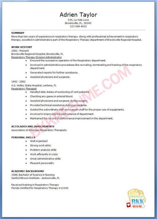 Charming Respiratory Resume Respiratory Therapist Resume Samples Visualcv Massage Therapy  Resumes