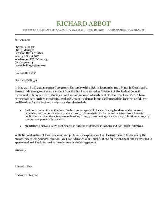 Cover Letter For Resume Examples For Students Image Gallery Of - cover letter for resumes examples
