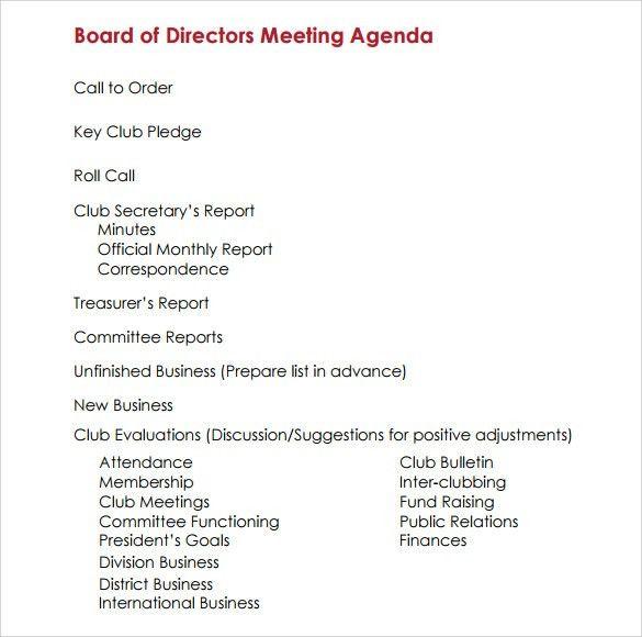 Preparing Meeting Agenda Preparing An Effective Agenda, To - sample board meeting agenda