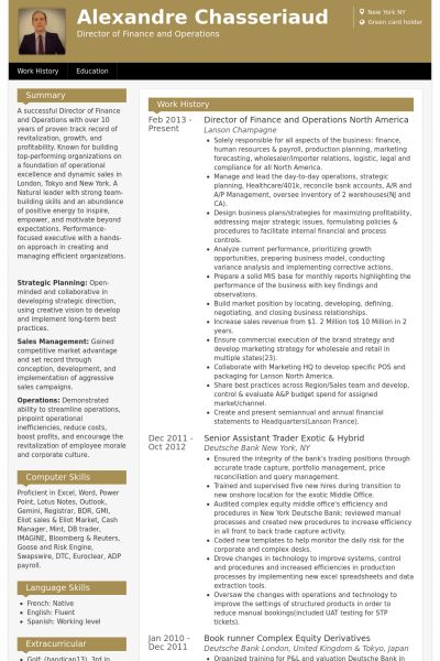 Vice President Of Finance Resume Vp Page 2