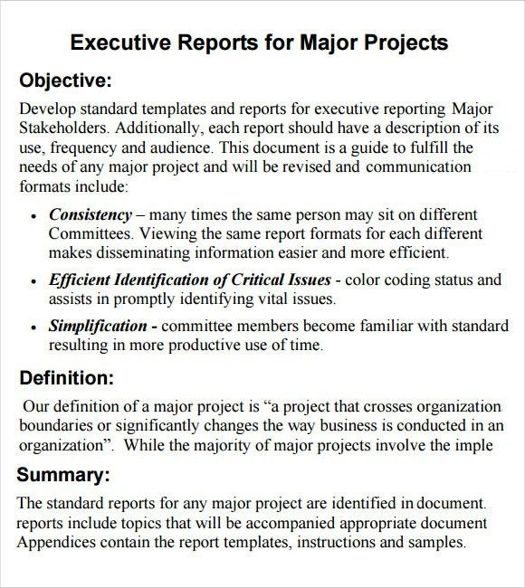 Executive Summary Report Template 31 Executive Summary Templates - executive summary format for project report