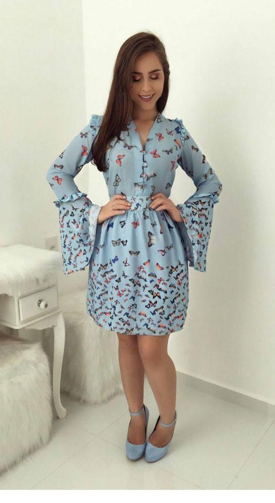 Sweet butterfly dress design