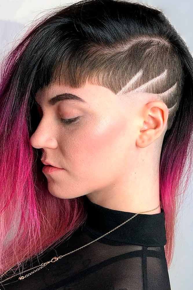 Long Hair Undercut  #colorfulhair #ombrehair ★ An undercut for women is a great way to upgrade their look no matter whether they prefer long hair or short haircuts. It's extremely versatile and has a multitude of design options, from simple side cuts to hidden nape shaved hairstyles, the trendiest of which you can find here.  #glaminati #lifestyle  #undercutwomen