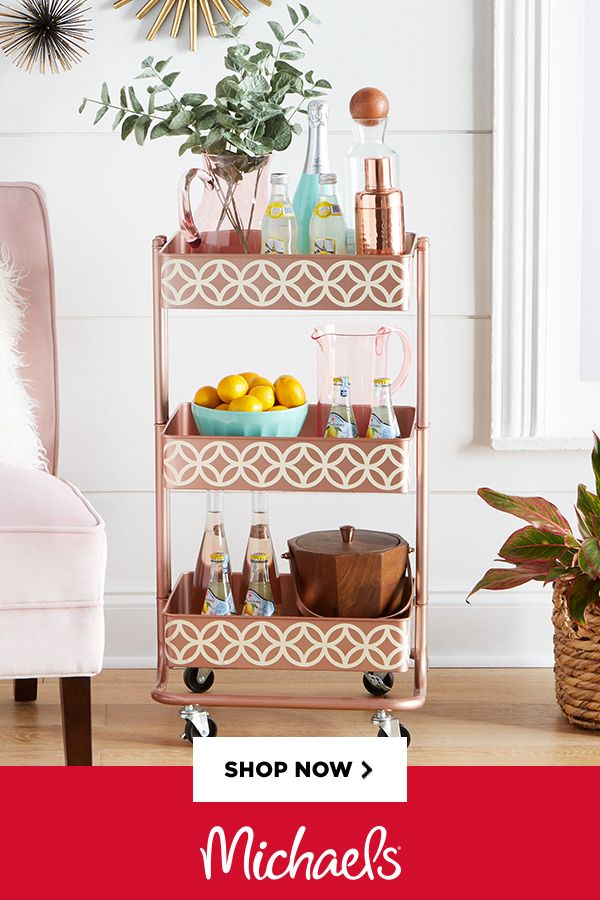 Lexington 3-Tier Rolling Cart By Recollections™- Store your supplies and display them neatly on this 3-tier cart by Recollections. Equipped with casters, this metal cart is convenient to move around and can be placed in any corner of the room with ease.