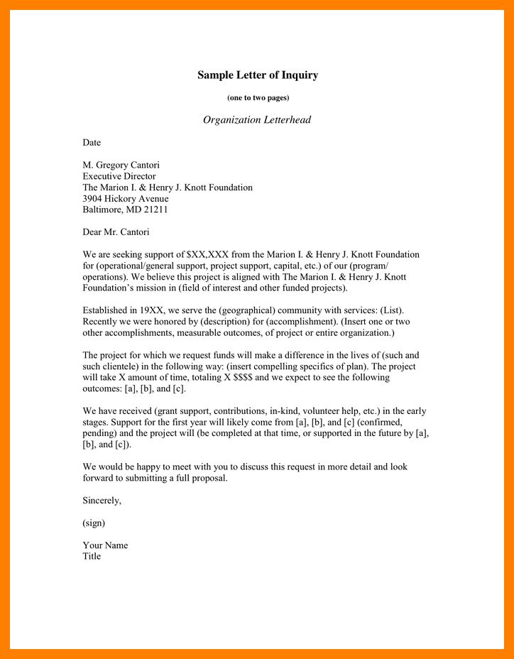 inquiry letter | resume-template.paasprovider.com