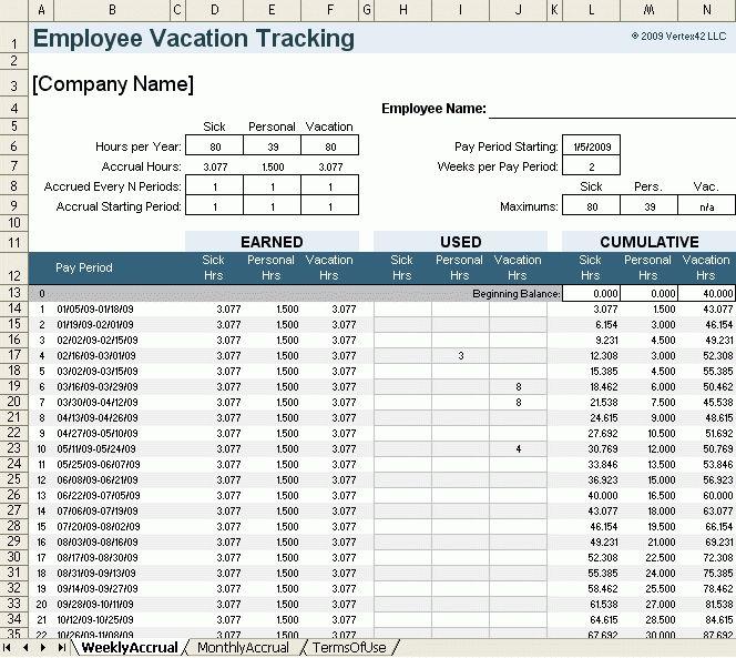 Time Tracking Template Time Tracking Template For Excel, 12 Time - vacation tracking template