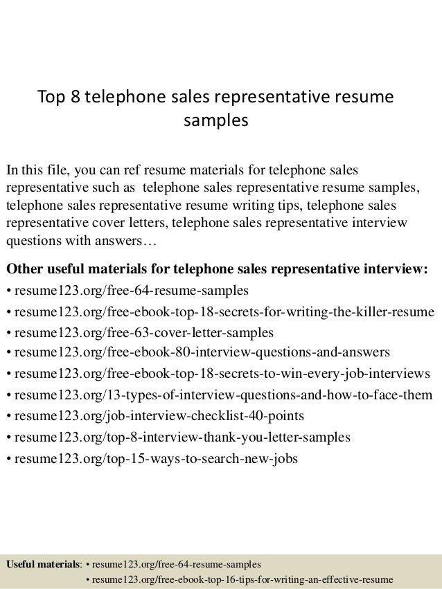 outside sales representative resume examples