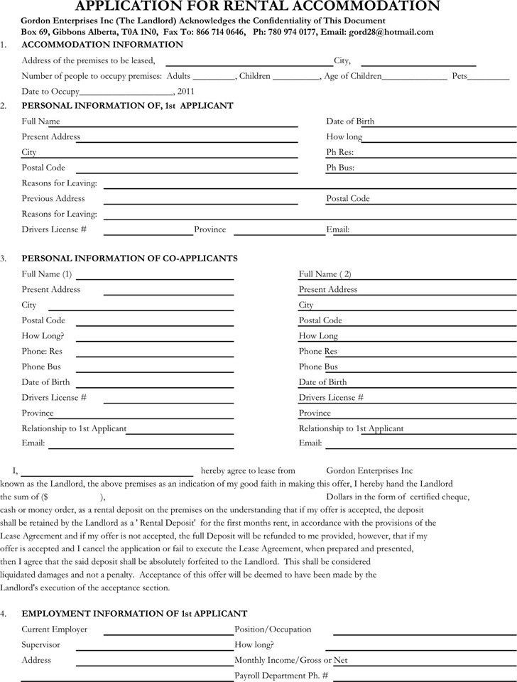 Simple Rental Agreement Form Free Download Month To Month Rental - rental assistance form