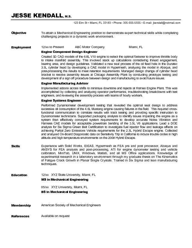 Resume Objective Examples Engineering Sample Graduate Resume - finance resume objective