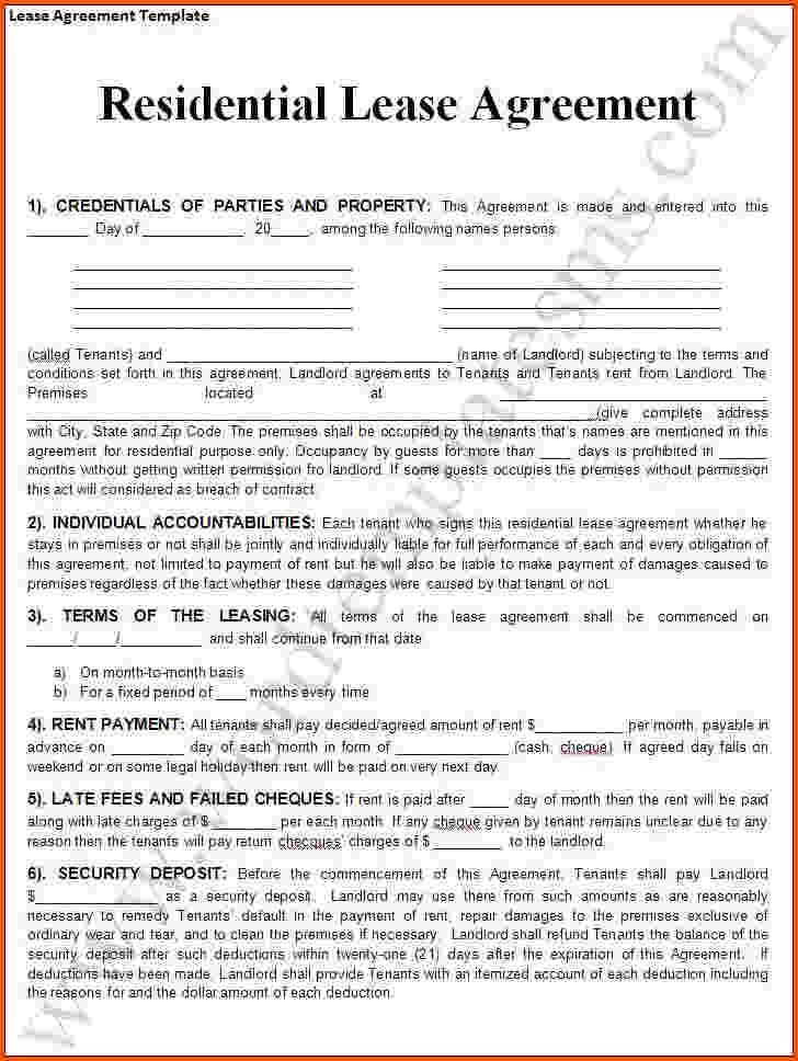 Rental Lease Agreement Template Word Rental Agreement Template 24 - standard lease agreement template