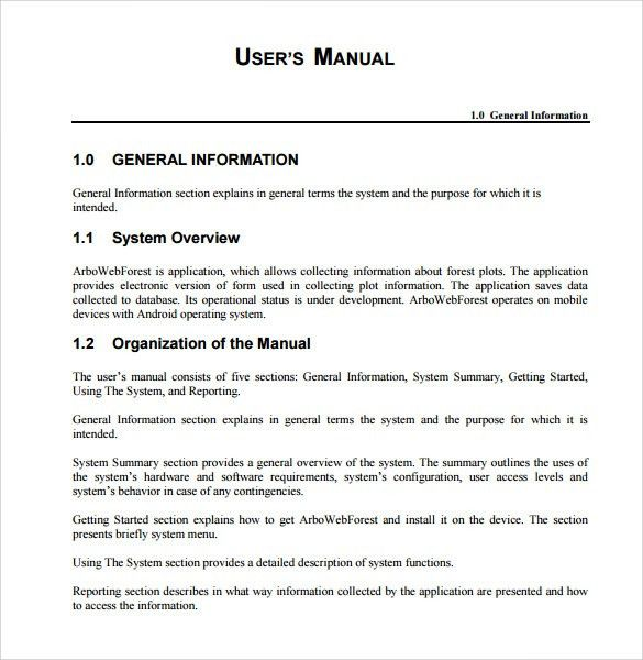 User Manual Template  Instruction Booklet Template