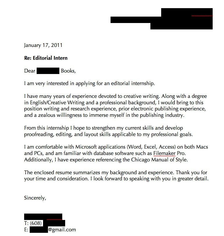 Good Resume Cover Letters] Best 20 Resume Cover Letter Examples