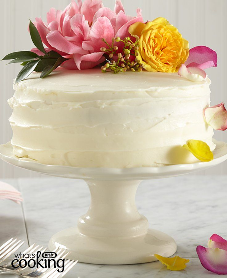 Easy Lemon-Elderflower Wedding Cake #recipe