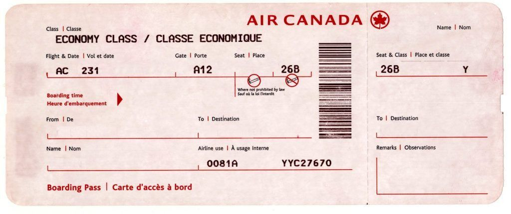 Printable Fake Airline Tickets plane ticket template word