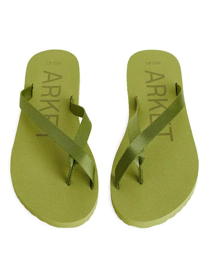 GreenGreyFlip Flops - Grey - Shoes - ARKET DE