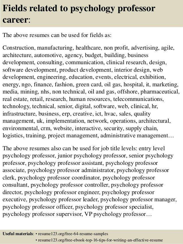 licensed psychologist sample resume clinical psychologist resume