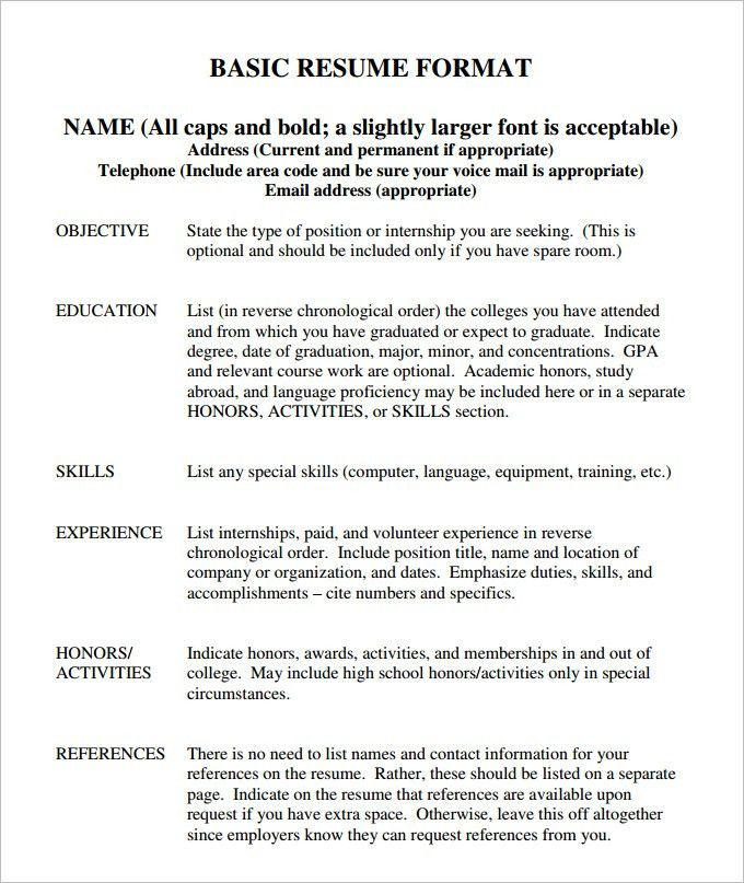 Example Resume Templates Free Resume Templates 20 Best Templates - reverse chronological resume template