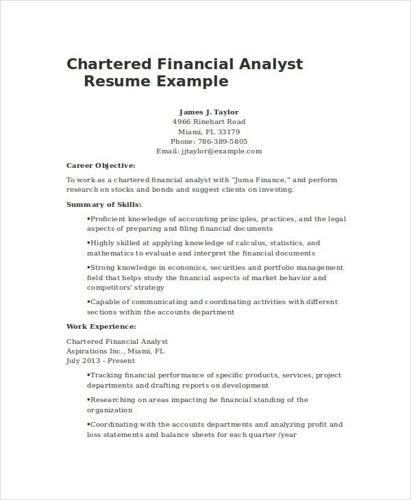 Financial Resume Examples Advisor Resume Example, Resume Sample - sample financial analyst resume