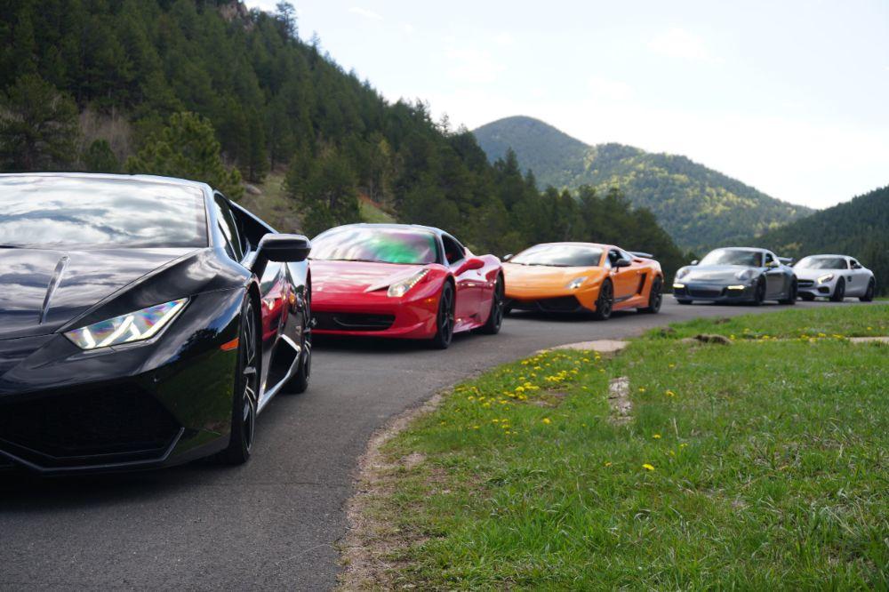 Exotic car experience grand tour in Golden, Colorado.