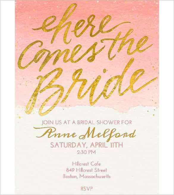 Free Templates For Bridal Shower Invitations Sample Bridal Shower - bridal shower invitation templates for word