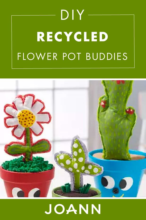 Add some color and quirkiness to your home with these cute DIY Recycled Flower Pot Buddies from JOANN! Have fun with your kids, while you paint the adorable faces on this beginner-friendly craft.