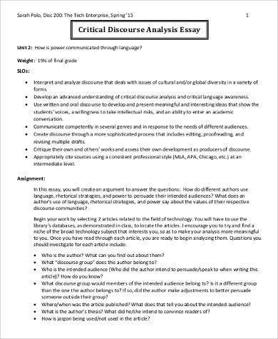 critical appraisal example essay