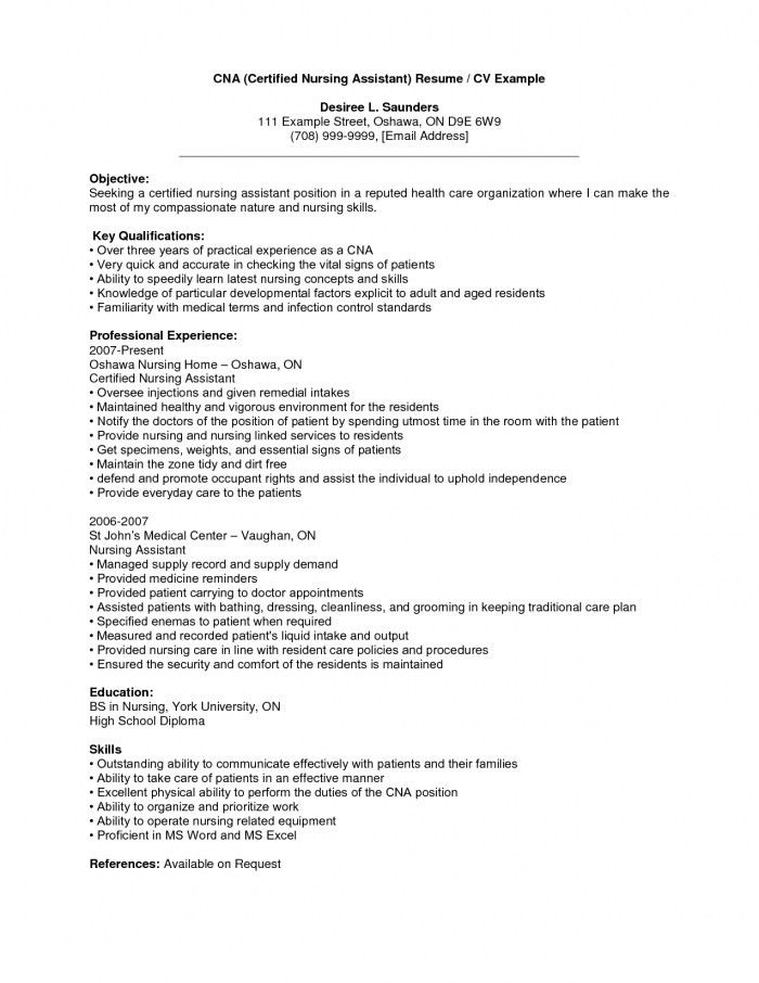 list of cna skills for resumes