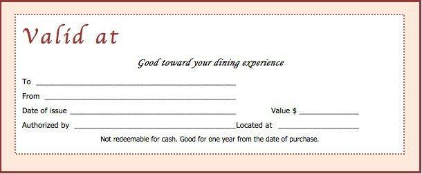 Voucher Certificate Template Best 25 Gift Certificate Templates - blank vouchers template
