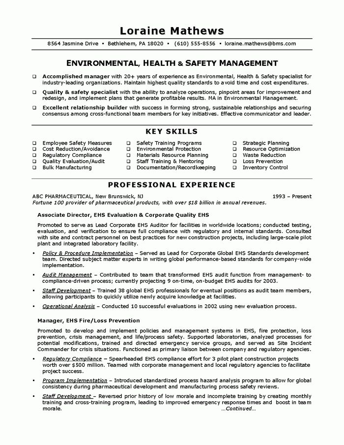 certified safety professional resume michael bradford chst ahsm environmental specialist sample resume - Environmental Specialist Sample Resume
