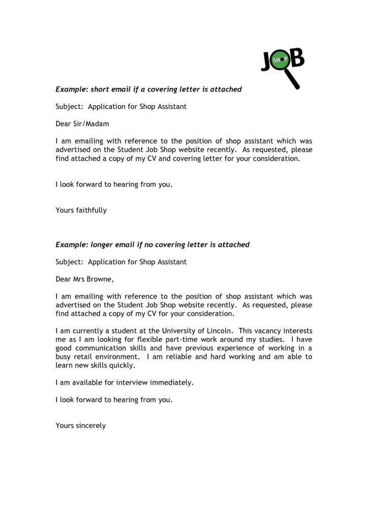 Cold Cover Letter Subject Line | Cover Letter