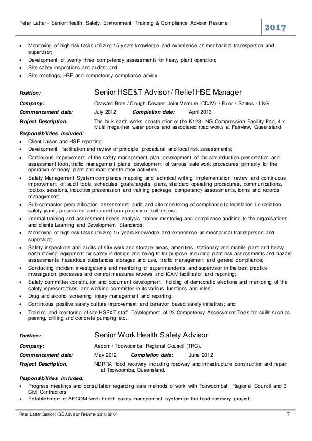 Hse Advisor Sample Resume Professional Hse Advisor Templates To Showcase Your Talent Lijo Trasport Hse Resume Health And Safety Cv Template Tips And Download Cv Plaza