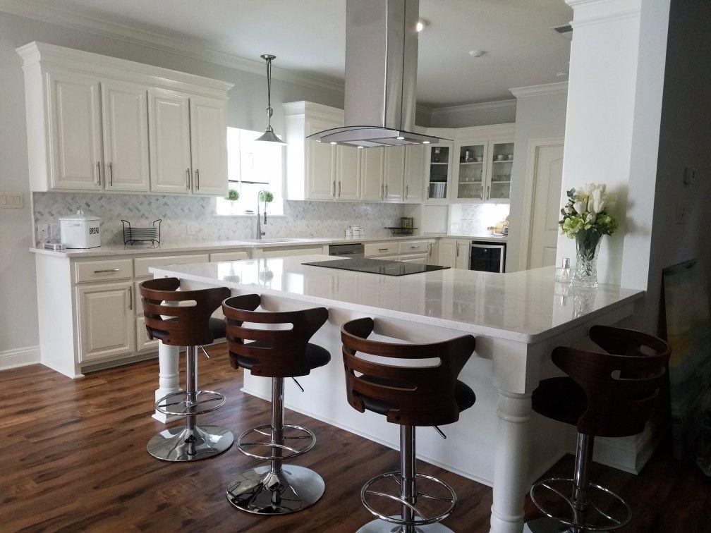 White kitchen dream Benjamin Moore dove white cabinets and ...