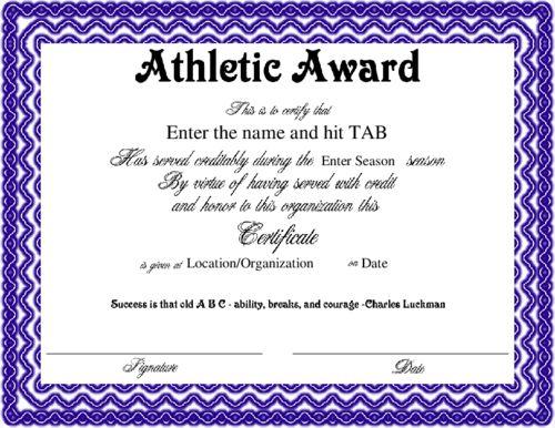 Award Certificates Templates