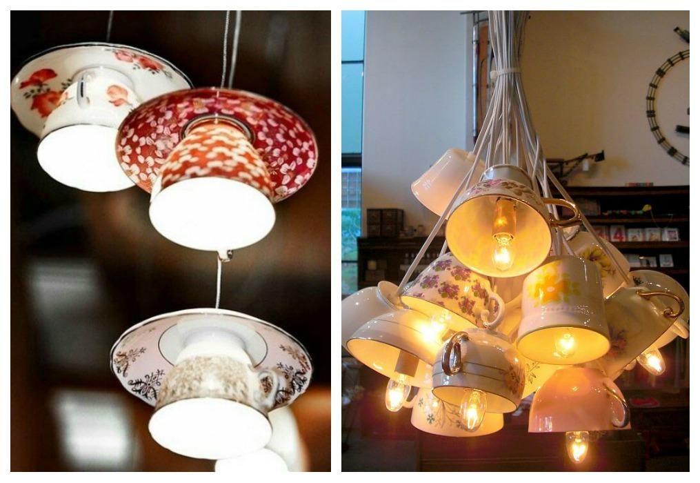Ideas para crear lámparas con elementos reciclados