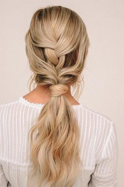 Braided Low Ponytail
