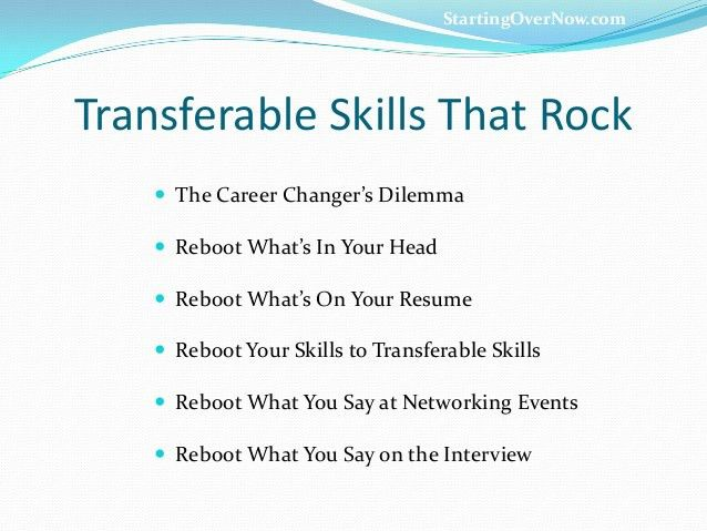 transferable skills examples resume