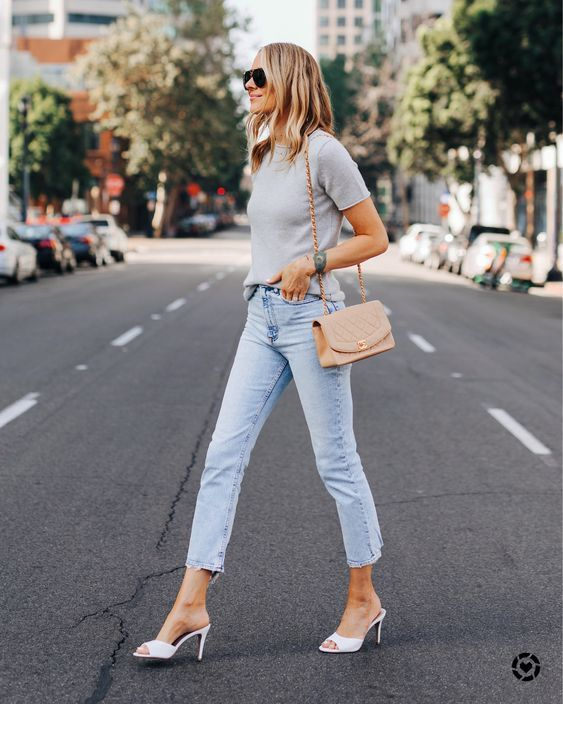 Simple outfit for street with basics