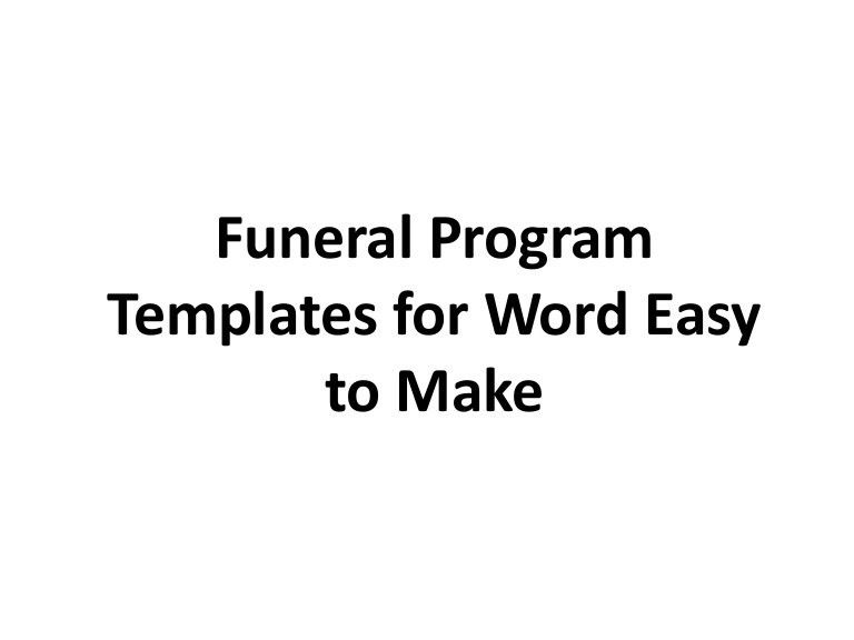 Free Funeral Templates For Word Free Funeral Program Template - free download funeral program template