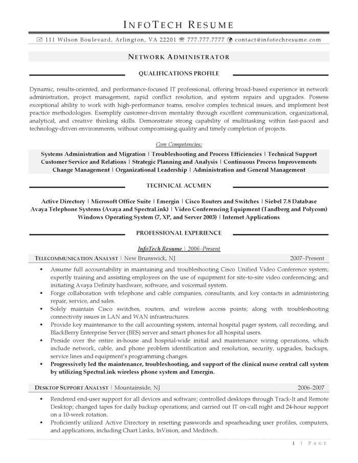Obiee Administrator Resume 100