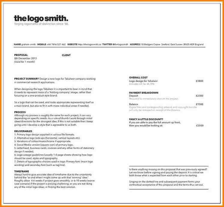 Graphic Design Proposal Sample Graphic Design Proposal Template 9 - graphic design proposal template