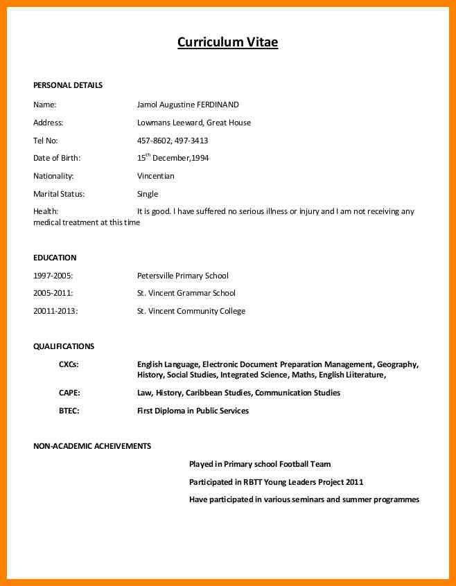 Pdf format normal resume