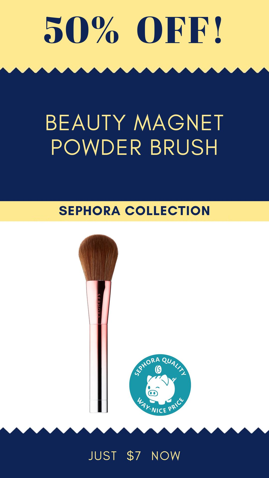 Beauty Magnet Powder Brush, 50% Off #deal