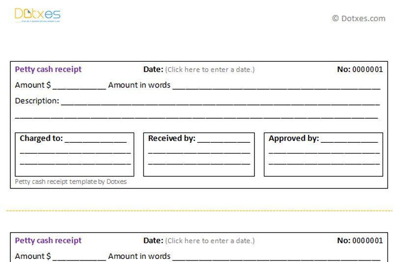 Cash Receipt Voucher Sample Sample Receipt Voucher Template 8 - petty cash voucher template