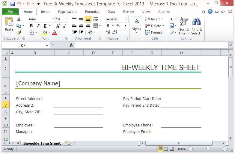 Weekly Timesheet Template 12 Weekly Timesheet Templates Free - biweekly time sheet calculator